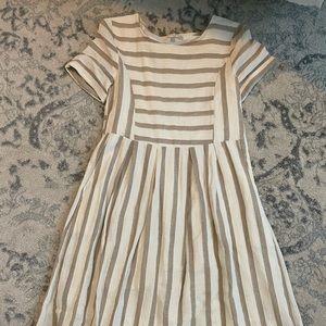Knee Length Striped Dress